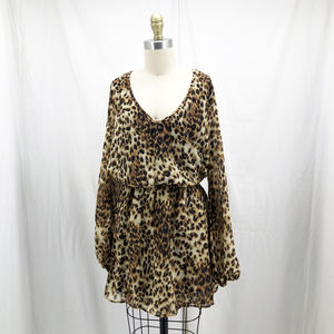 SHOW ME YOUR MUMU Leopard Print Rainey Mini Dress